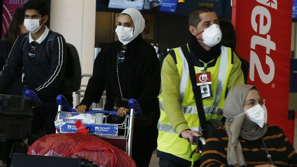 Coronavirus en el aeropuerto italiano de Fiumicino