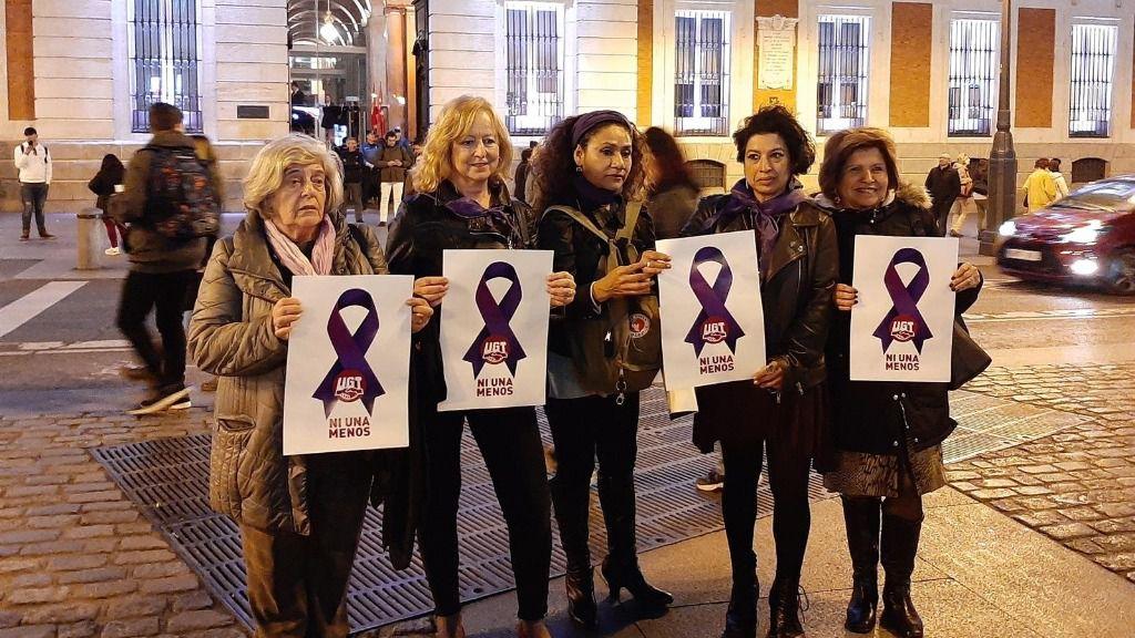 Concentración del Foro de Madrid contra la Violencia a las Mujeres