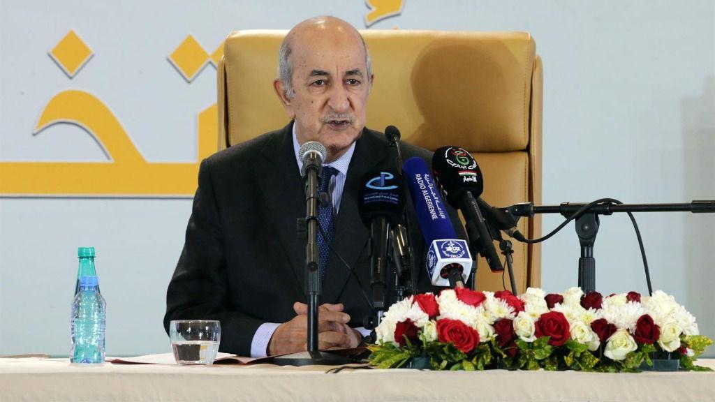 El presidente de Argelia, Abdelmayid Tebune