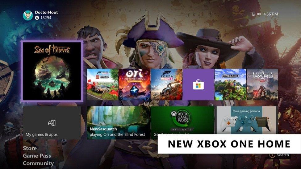 Nueva pantalla de inicio en Xbox One