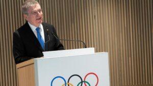 Thomas Bach, presidente del COI, durante un acto