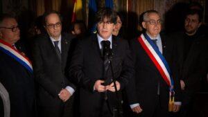 Discurso del expresidente de la Generalitat Carles Puigdemont al visitar el Departamento de Pirineos Orientales en Perpignan