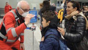 Control por el coronavirus en Milán