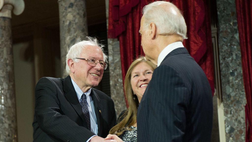 Bernie Sanders y Joe Biden