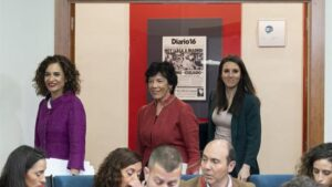 María Jesús Montero, Irene Montero e Isabel Celaá.