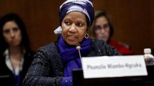 La directora de ONU Mujeres, Phumzile Mlambo-Ngcuka