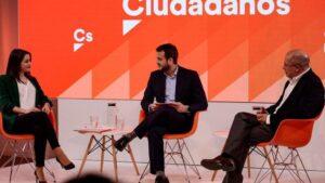 Los candidatos a la Presidencia de Ciudadanos, Inés Arrimadas y Francisco Igea, en un debate previo a las primarias
