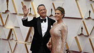 El actor estadounidense Tom Hanks y su mujer, Rita Wilson