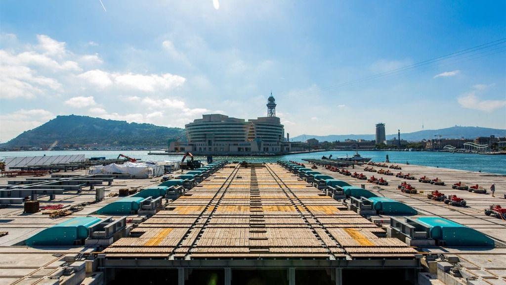 Nuevo elevador de MB92 en Puerto de Barcelona