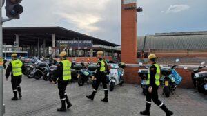 Militares de la Unidad Militar de Emergencias (UME) en Atocha