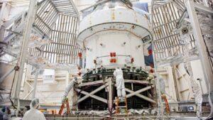 La nave espacial Orion para la misión Artemisa