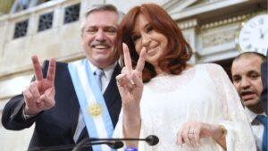 El presidente de Argentina, Alberto Fernández, y la vicepresidenta, Cristina Fernández