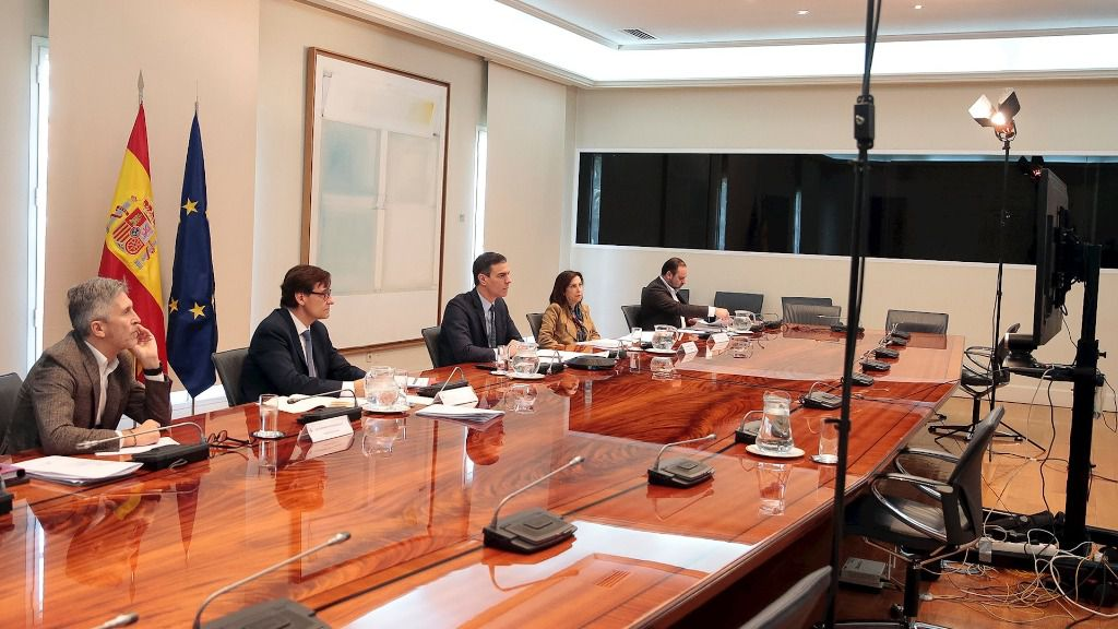 Imagen de la conferencia de Sánchez con los presidentes autonómicos