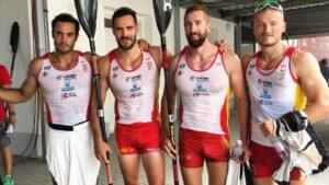 Saúl Craviotto junto a Rodrigo Gemade, Carlos Arévalo y Marcus Cooper Walz