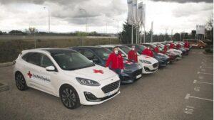 Vehículos de Ford cedidos a Cruz Roja