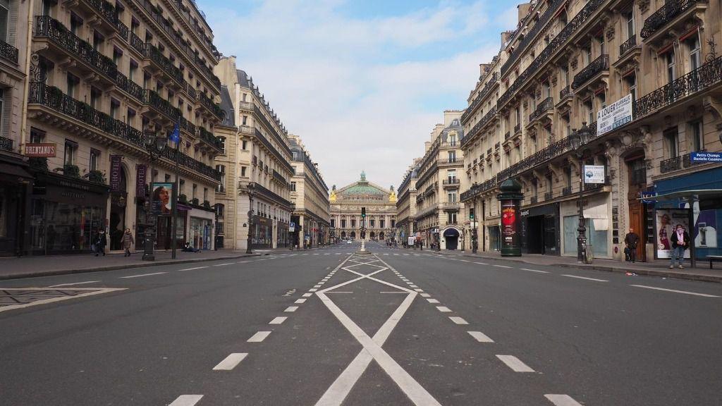 Vista de París en plena pandemia de coronavirus