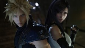 Cloud y Tifa de Final Fantasy VII Remake