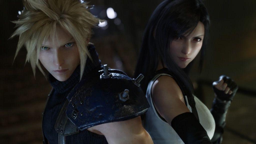 Cloud y Tifa de Final Fantasy VII Remake