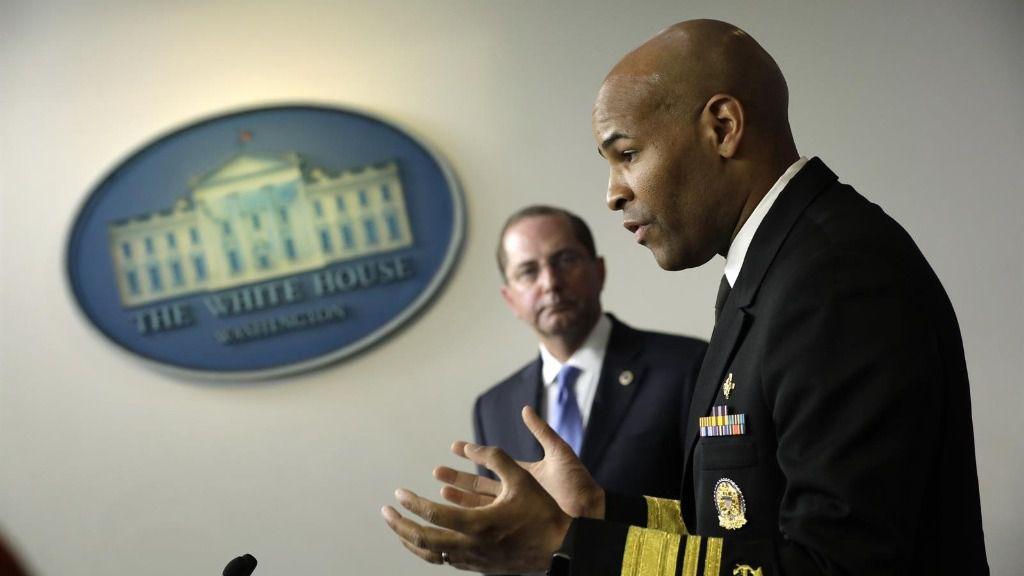 El cirujano general de EEUU, Jerome Adams