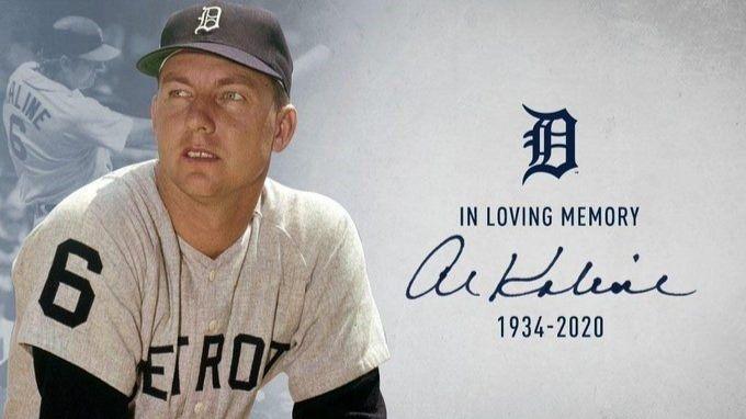 El exjugador de béisbol de Detroit Tigers Al Kaline