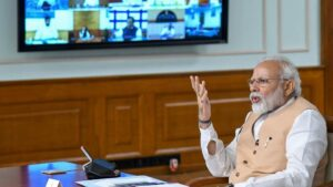 Narendra Modi encabeza una reunión con ministros