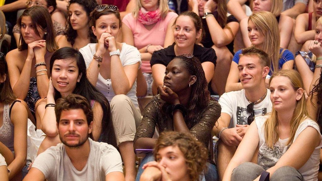 Estudiantes Erasmus en la Universidad de Sevilla