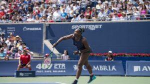 Serena Williams contra Bianca Andreescu en el torneo de Montreal del año pasado
