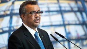 El director general de la OMS, el etíope Tedros Adhanom Ghebreyesus