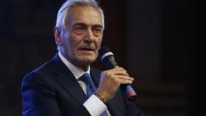 El presidente de la Federación Italiana de Fútbol, Gabriele Gravina