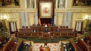 Congreso de los Diputados y Pedro Sánchez