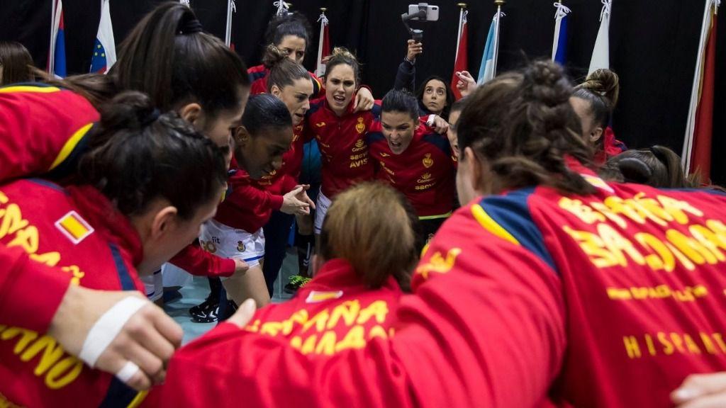 La selección española femenina de balonmano Guerreras en el Mundial de Japón