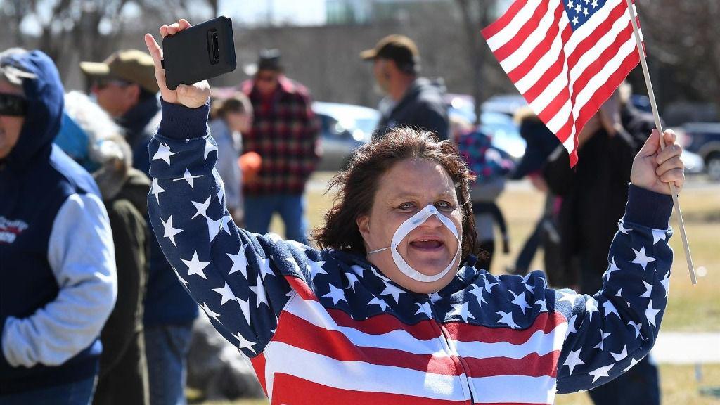 Manifestación contar el confinamiento en Estados Unidos