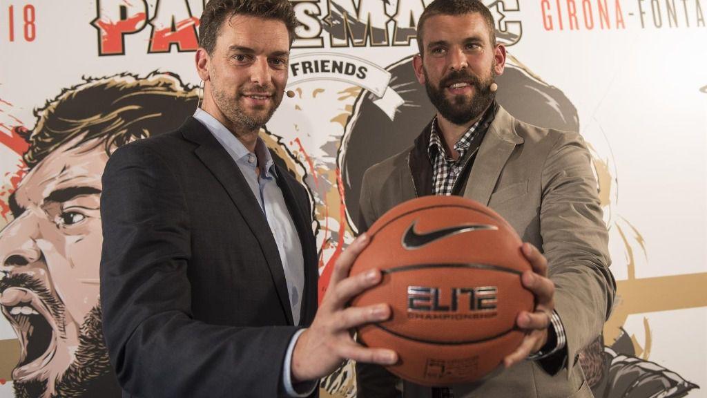 Los jugadores de baloncesto Pau y Marc Gasol en 'Pau Vs Marc' - GASOL FOUNDATION