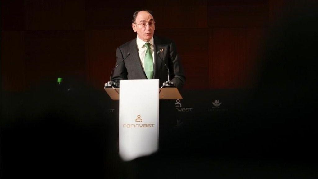 El presidente de Iberdrola, Ignacio Galán, en la Noche de las Finanzas