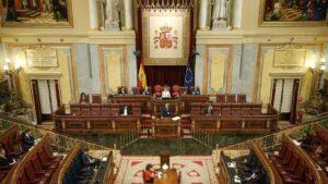 El presidente del Gobierno, Pedro Sánchez, en el Congreso