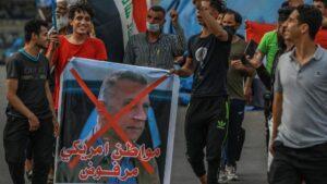 Una protesta en la capital de Irak, Bagdad