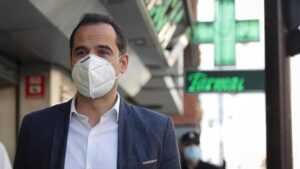 El vicepresidente, consejero de Deportes, Transparencia y portavoz del Gobierno de la Comunidad de Madrid, Ignacio Aguado
