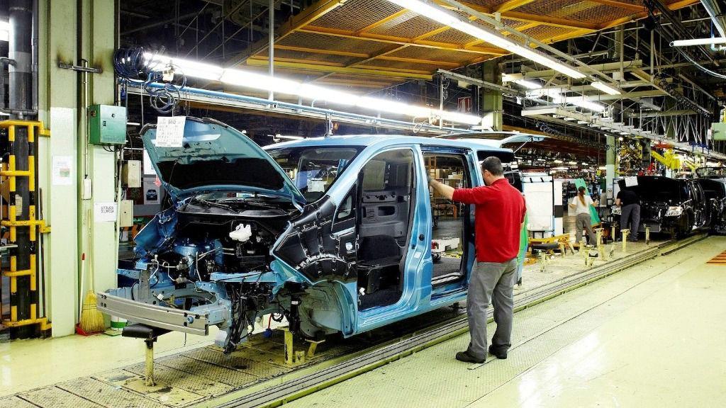 Producción del eNV200 en la planta de Nissan en Barcelona