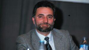 El que fuera dirigente de Izquierda Unida, Julio Anguita, durante el XII congreso del PCE donde fue elegido secretrio general en el año 1999