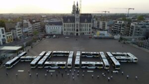 "Un mensaje de ""esperanza"" en una plaza de Bélgica"