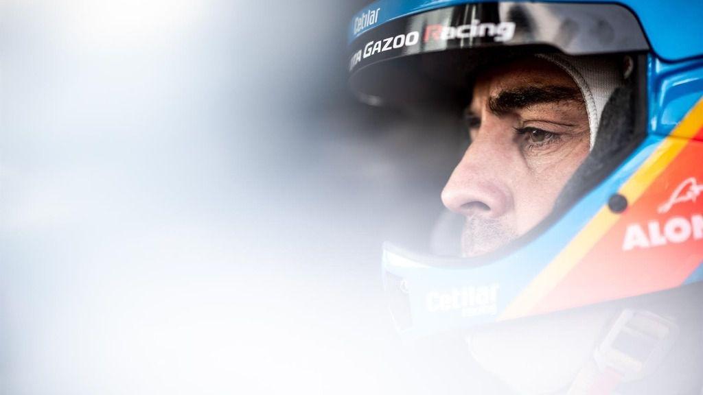 Fernando Alonso, en una etapa del Rally Dakar