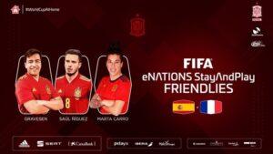 Cartel anunciado de la selección de 'efootball' que se medirá en un amistoso a Francia