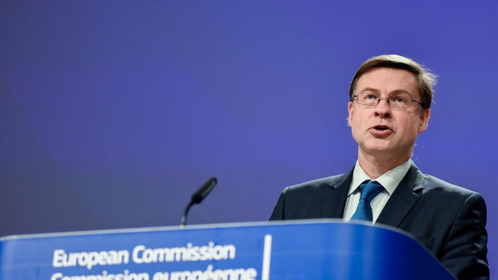 El vicepresidente económico de la Comisión Europea, Valdis Dombrovskis