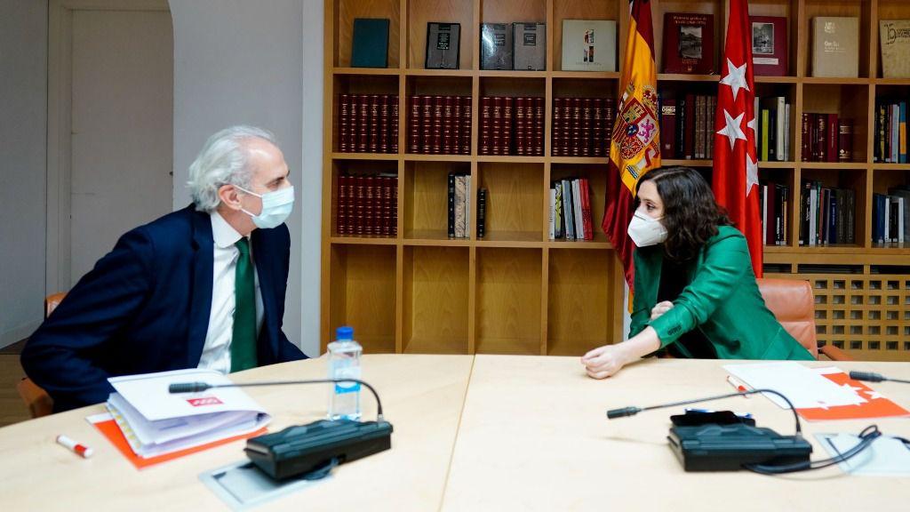 Isabel Díaz Ayuso y Enrique Ruiz Escudero