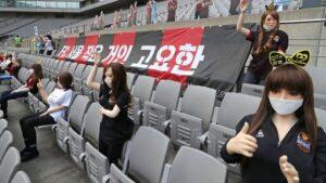 Múñecas sexuales usadas como público por el FC Seoul