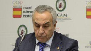 Alejandro Blanco, presidente del COE, y José Luis Mendoza, presidente de la UCAM