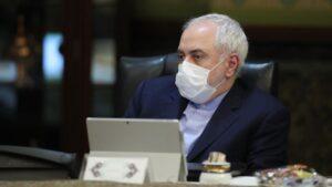 Mohamad Yavad Zarif con mascarilla