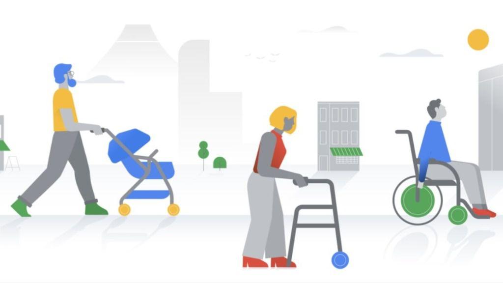 Información en Google Maps sobre accesiblidad en silla de ruedas