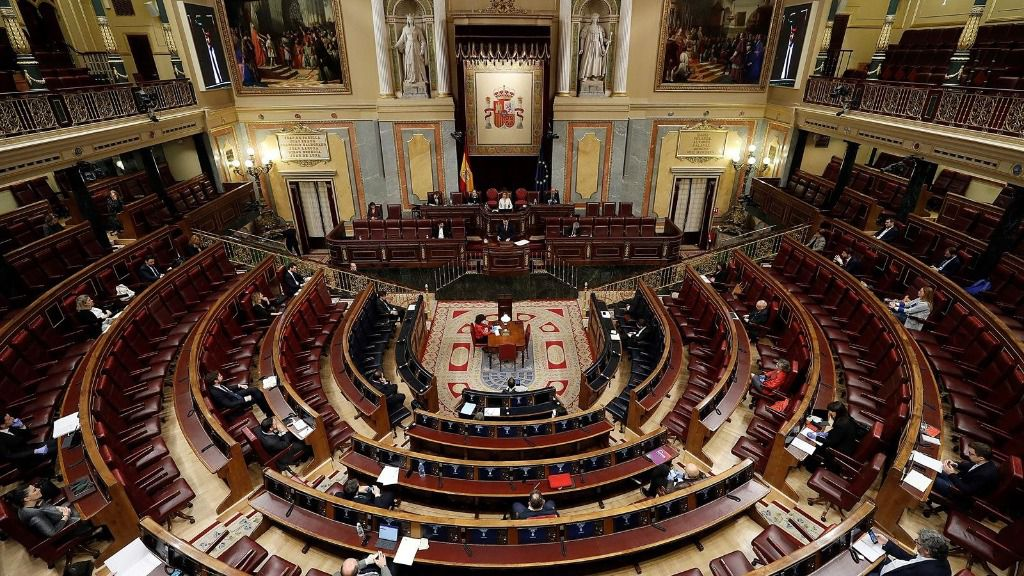 Vista del hemiciclo del Congreso