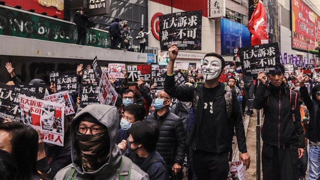 Manifestación prodemocrática en Hong Kong